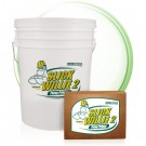 Containers of the powder concrete pump primer, Slick Willie 2